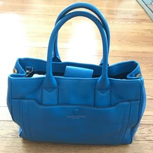 Amazing Blue Marc Jacobs Empire City Leather Purse